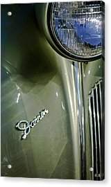 1940 Packard Super Eight One-eighty Darrin Convertible Sedan Headlight Emblem Acrylic Print by Jill Reger
