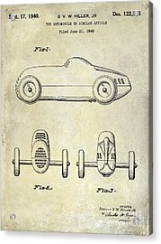 1940 Toy Car Patent Drawing Acrylic Print
