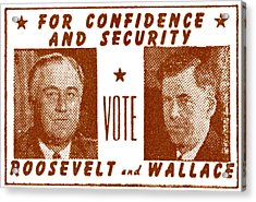 1940 Vote Roosevelt And Wallace Acrylic Print