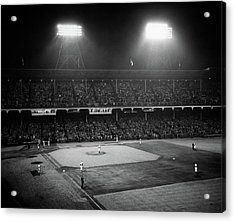 1940s 1947 Baseball Night Game Acrylic Print
