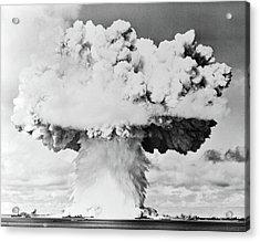 1940s 1950s Atomic Bomb Blast Mushroom Acrylic Print
