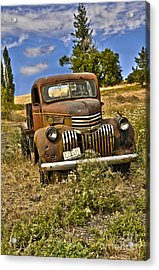 1940's Chevy Truck Acrylic Print by Camille Lyver