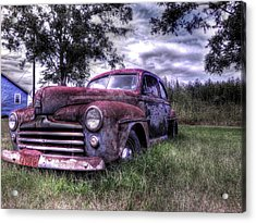 1940s Ford Super Deluxe 8 Acrylic Print