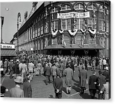 1940s October 1947 Dodger Baseball Fans Acrylic Print