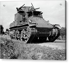 1940s World War II Era Us Army Tank One Acrylic Print