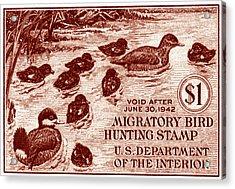 1941 American Bird Hunting Stamp Acrylic Print