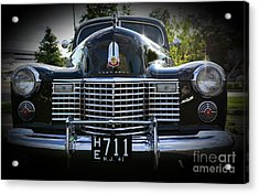 1941 Cadillac Front End Acrylic Print by Paul Ward