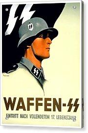 1941 - German Waffen Ss Recruitment Poster - Nazi - Color Acrylic Print