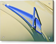 1949 Hudson Super Six  Hood Ornament Acrylic Print by Jill Reger