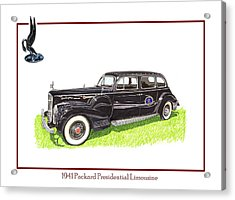 1941 Packard 180 Presidential Limousine Acrylic Print by Jack Pumphrey
