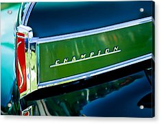 1941 Sudebaker Champion Coupe Emblem Acrylic Print by Jill Reger