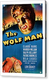 1941 The Wolf Man Vintage Movie Art Acrylic Print