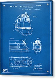 1941 Zephyr Train Patent Blueprint Acrylic Print by Nikki Marie Smith
