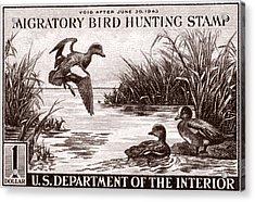 1942 American Bird Hunting Stamp Acrylic Print