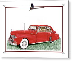 1942 Lincoln Continental Coupe Acrylic Print by Jack Pumphrey