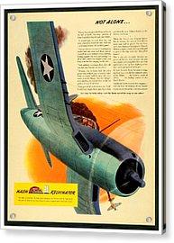1943 - Nash Kelvinator Advertisement - Corsair - United States Navy - Color Acrylic Print