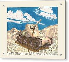 1943 Sherman M 4 Medium Taqnk Acrylic Print by Jack Pumphrey