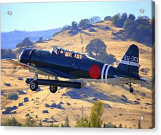 1944 Snj-5c Japanese Zero Mock-up With Torpedo Climbing Out N6438d Acrylic Print by John King