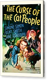 1944 The Curse Of The Cat People Vitage Movie Art Acrylic Print