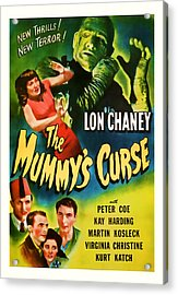 1944 The Mummys Curse Vintage Movie Art Acrylic Print