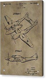 1946 Airplane Patent Acrylic Print