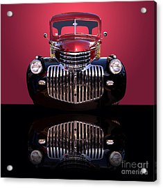 1946 Chevy Panel Truck Acrylic Print by Jim Carrell