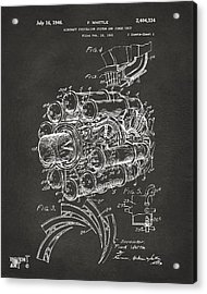 1946 Jet Aircraft Propulsion Patent Artwork - Gray Acrylic Print by Nikki Marie Smith