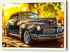 1946 Mercury Convertible Acrylic Print by Steve Benefiel
