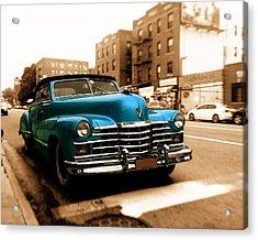 1947 Cadillac Convertible Acrylic Print by Jon Woodhams