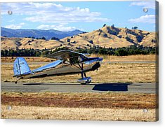 Acrylic Print featuring the photograph 1947 Cessna 140 Taxiing N4151n by John King