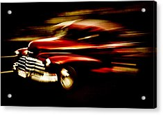 1947 Red Chevrolet Acrylic Print by Phil 'motography' Clark