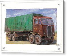 1947 Scammell R8 Acrylic Print by Mike  Jeffries