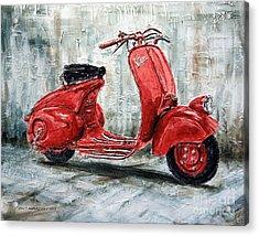 1947 Vespa 98 Scooter Acrylic Print by Joey Agbayani
