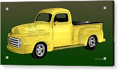 1948 Custom Ford Pick Up Acrylic Print by Jack Pumphrey