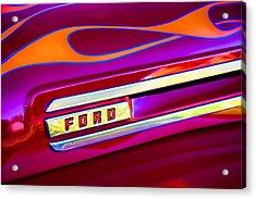 1948 Ford Pickup Acrylic Print by Carol Leigh