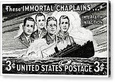1948 Immortal Chaplains Stamp Acrylic Print
