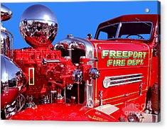 1949 Ahrens Fox Piston Pumper Fire Truck Acrylic Print by Jim Carrell