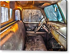 1949 Chevy Truck Cab Acrylic Print by D Wallace