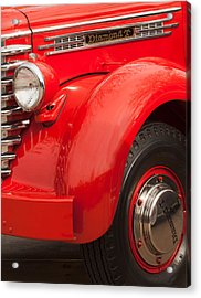 1949 Diamond T Truck Front End Acrylic Print