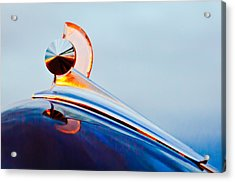 1949 Ford Hood Ornament 2 Acrylic Print by Jill Reger