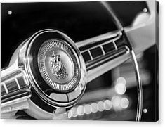 1949 Plymouth P-18 Special Deluxe Convertible Steering Wheel Emblem Acrylic Print