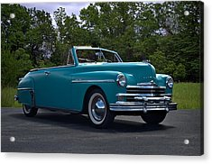 1949 Plymouth Special Deluxe Convertible Acrylic Print by Tim McCullough