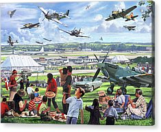 1950 Airshow Acrylic Print by MGL Meiklejohn Graphics Licensing