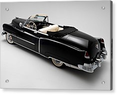 Acrylic Print featuring the photograph 1950 Black Cadillac Convertible by Gianfranco Weiss