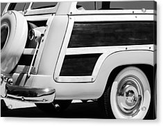 1950 Ford Custom Deluxe Station Wagon Rear End - Woodie Acrylic Print by Jill Reger
