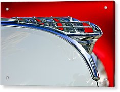1950 Plymouth Hood Ornament 3 Acrylic Print by Jill Reger