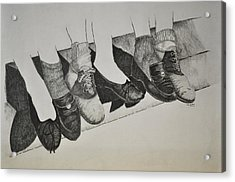 1950 Shoe Fad Acrylic Print by Glenn Calloway