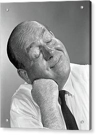 1950s 1960s Balding Man Leaning Head Acrylic Print