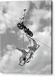 1950s 1960s High-wire Act With Man Acrylic Print