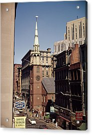 1950s 1960s Old South Meeting House Acrylic Print